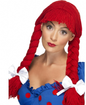 Rag Doll Wig , Red (42233)